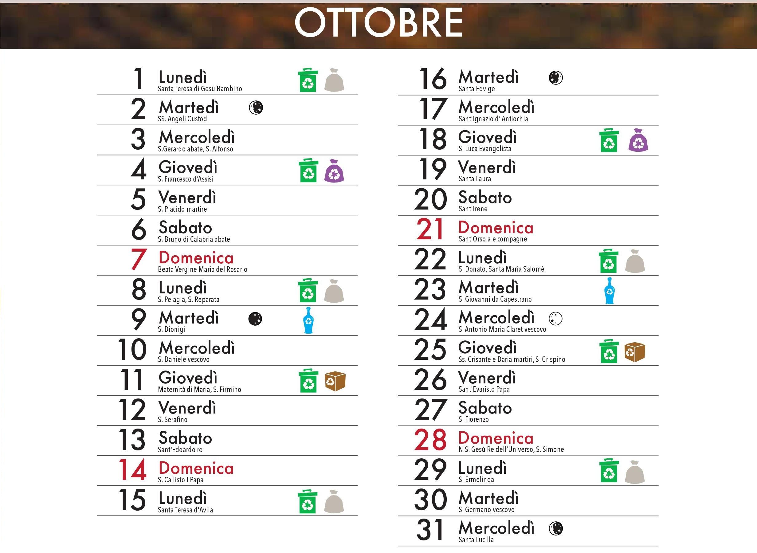 Raccolta Rifiuti Ingombranti Roma Calendario 2020.Rifiuti